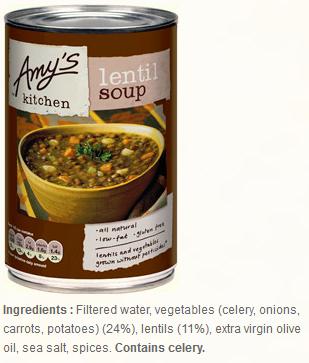 Amy's Kitchen curried lentil soup