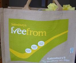 Sainsbury's FreeFrom Bag for life goody bag
