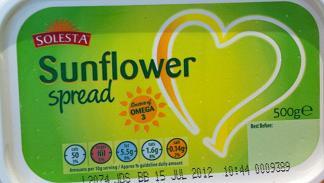 Aldi Solesta dairy free vegan sunflower spread