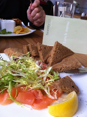 Gluten and dairy free lunch at TwentySix in Teignmouth,Devon
