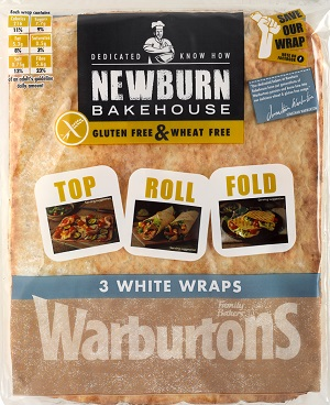 Warburtons gluten and wheat free flour tortillas