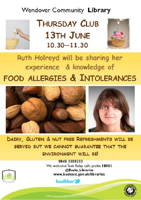 find out about Food allergies at wendover library