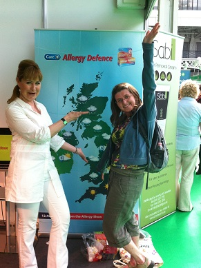 Ruth Holroyd from What Allergy with Sian Lloyd weather girl
