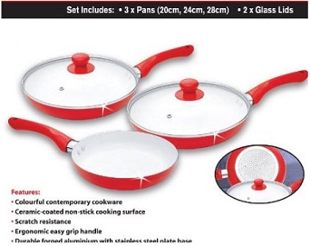 Ceramic pans for healthy less oil cooking