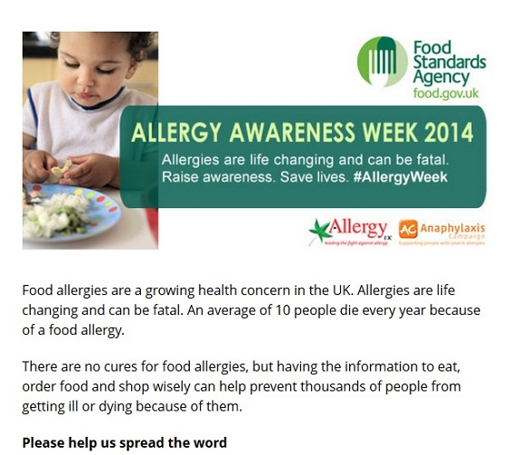 28th April to 4th May is Allergy Awareness Week #AllergyWeek