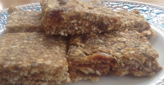 Gluten, dairy, nut, soya free no-bake fridge flapjacks