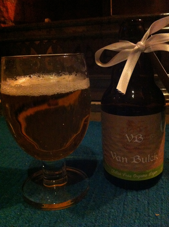 Van Bulck gluten free beer - very hoppy and refreshing.
