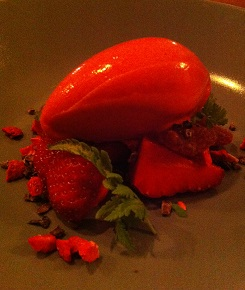 Dairy and nut free Strawberries five ways sorbet