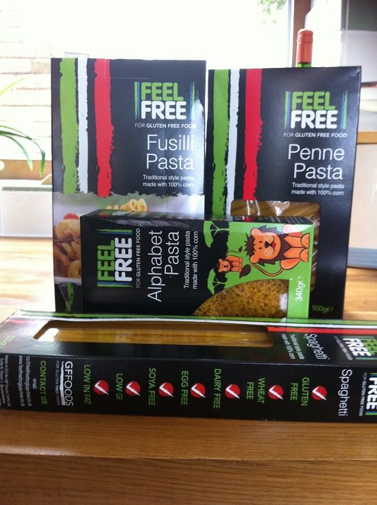FeelFree Gluten Free and dairy free pasta