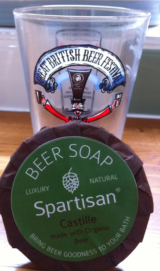 Beer soap at the Great British Beer Festival 2014 - not much #GF beer though