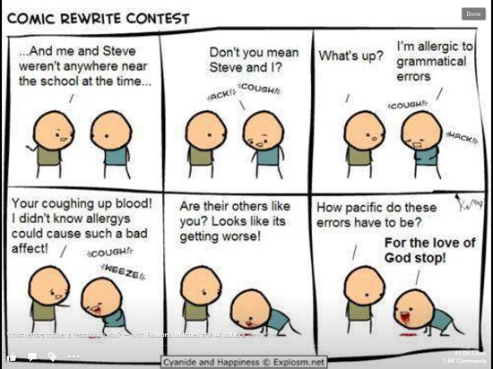 Are you allergic to bad grammar? Me too!