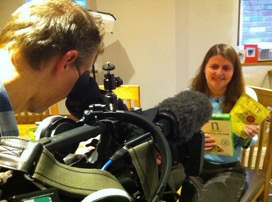 Filming with BBC Breakfast about new allergen labelling laws