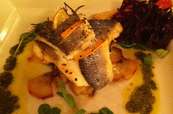 Gluten free and dairy free trout with watercress and saute potatoes