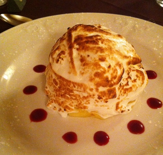 Gluten, wheat, nut, dairy and soya free Baked Alaska at Ravenstone Manor
