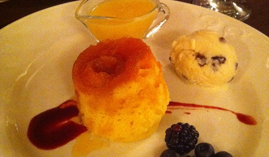 Gluten, wheat, dairy, nut and soya free Treacle sponge pudding at Ravenstone Manor
