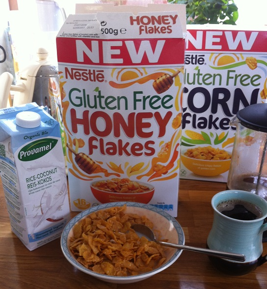 Finally, #glutenfree corn flakes and honey flakes from nestle
