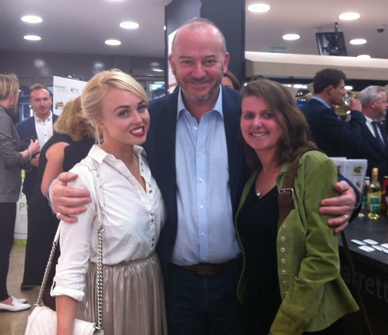 'A thorn between two roses' Peter Aldis CEO of Holland & Barrett and Jorgie Porter from Hollyoaks