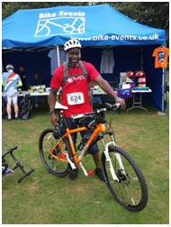 Ian Connell raises money for AllergyUK at London to Windsor bike ride