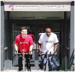 Simon Parish of Anytime Fitness with Ian Connell