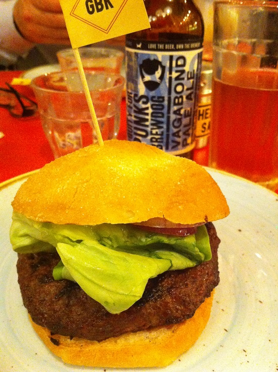 Gluten, dairy, tomato and nut free burger at Gourmet Burger Kitchen
