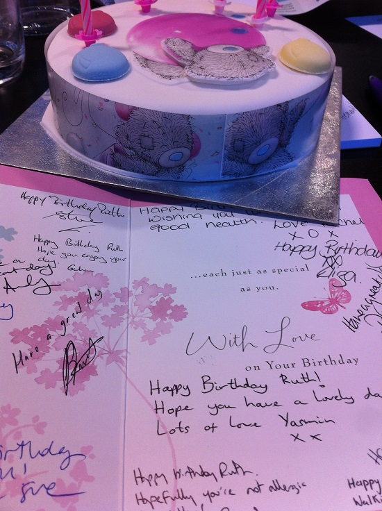 NOT #FreeFrom Birthday cake from my colleagues at work