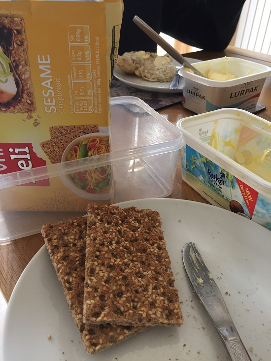 Delicious wheat free Sesame Ryvita is delicious