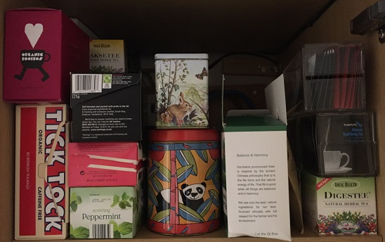 Lots of herbal tea... now which shall I drink today?