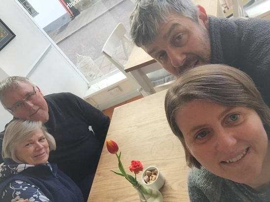 Here we are, me, Ken, Dad and Liz in Number Twenty One