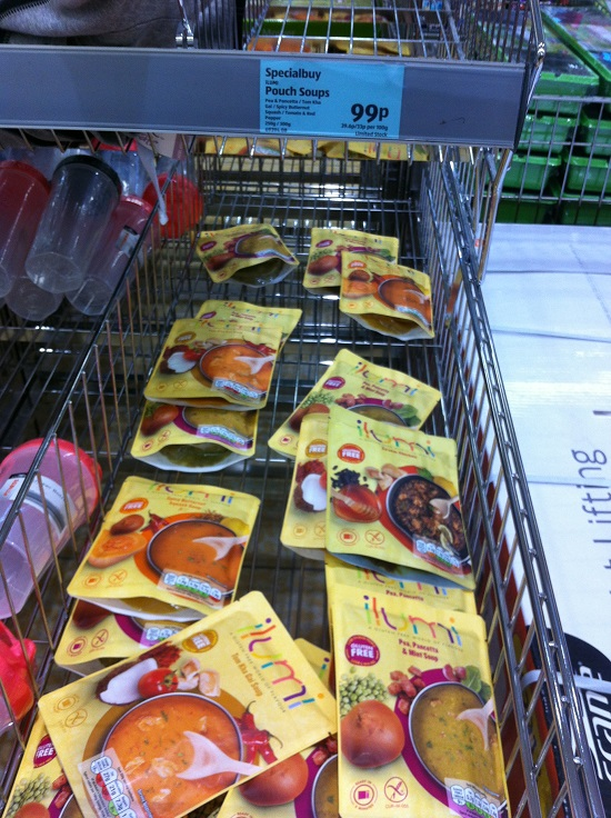 ilumi pouch soups are now available in Aldi for just 99p each