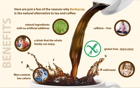 BarleyCup - A gluten free alternative hot drink to tea and coffee