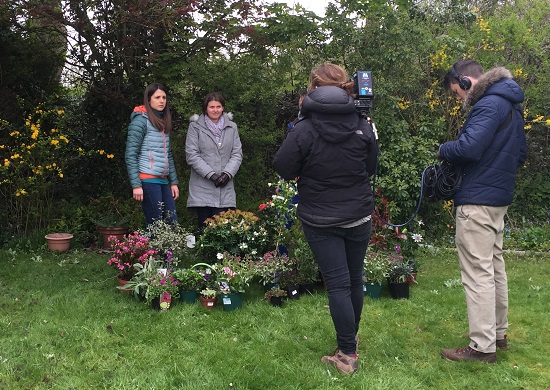 Filming BBC Countryfile Diaries Seasonal Allergy special with Keeley Donavan