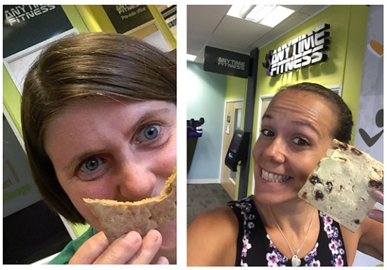 Me and Clare - loving the new Newburn Bakehouse thins