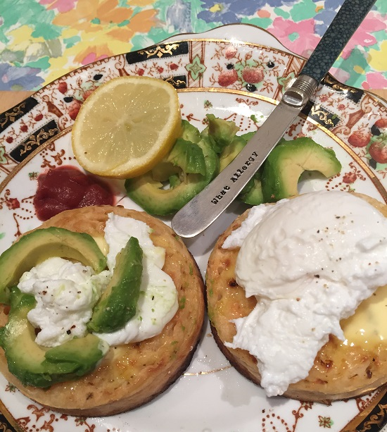 Newburn Bakehouse Gluten free #crumpetchallenge a la avocado and poached egg