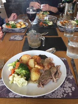 Delicious home-cooked #freefrom roast lamb dinner with all the trimmings