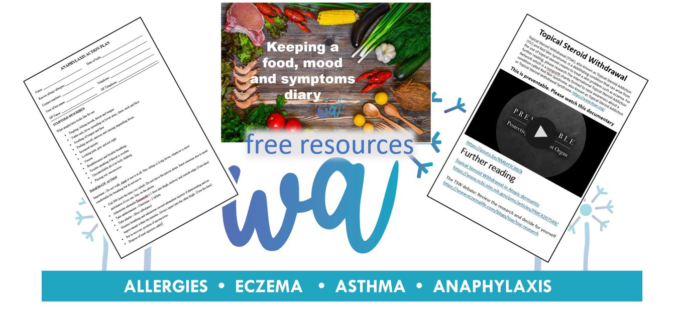 Subscribe today to receive loads of free allergy, eczema and TSW resources