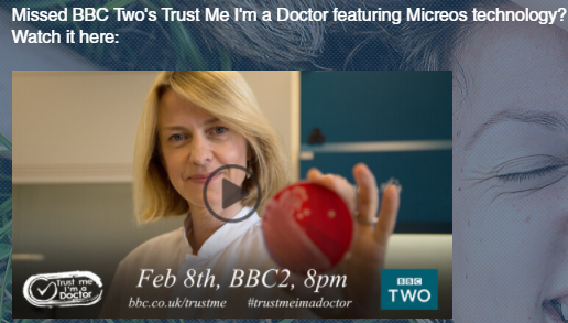 BBC Two's Trust Me I'm a Doctor featuring Micreos technology?
