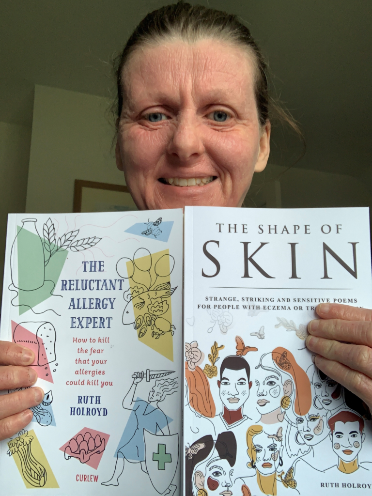 Ruth Holroyd proudly shows off her two books