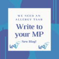 Write to your mp about allergies